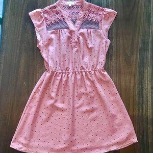 MINE | Blush Pink/Navy Polka Dot Dress